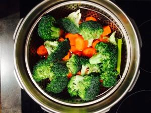 carottes brocolis dans la cocotte