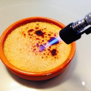 caramélisation au chalumeau