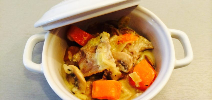 Blanquette de veau carottes champignons poireaux