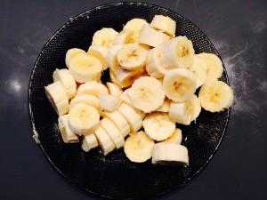 bananes en rondelles