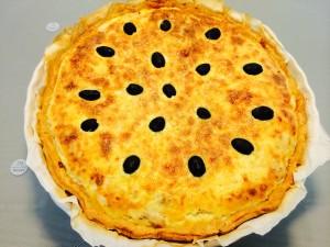 tarte thon poivrons échalotes cuite