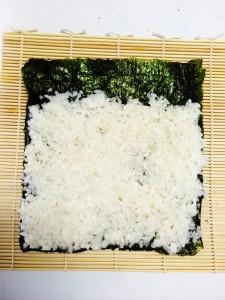 fine couche de riz