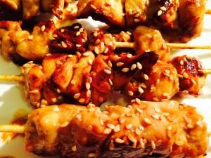 Brochettes japonaises de poulet
