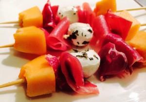 brochettes melon jambon mozzarella