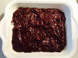 brownies avant cuisson