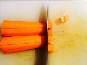 découpe des carottes