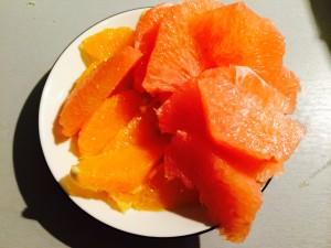 suprêmes d'orange et de pamplemousse