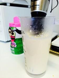 fouettez le lait concentré