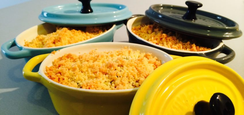 Crumble courgettes basilic