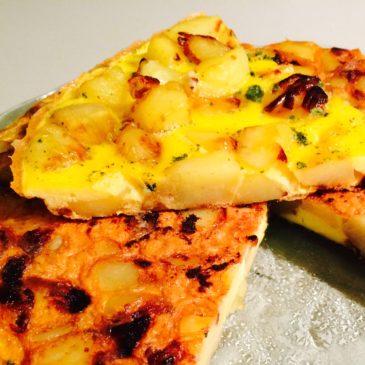 Omelette oignons pommes de terre