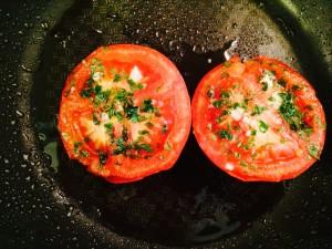 tomates persillées cuites