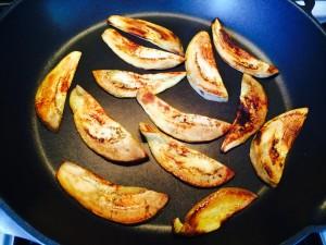 cuisson des aubergines