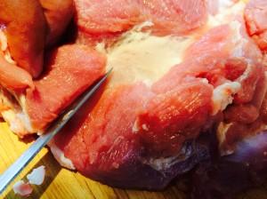 dégraissez la viande