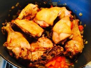 ajoutez le poulet