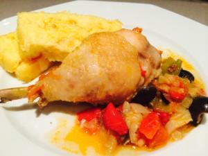 poulet basquaise polenta