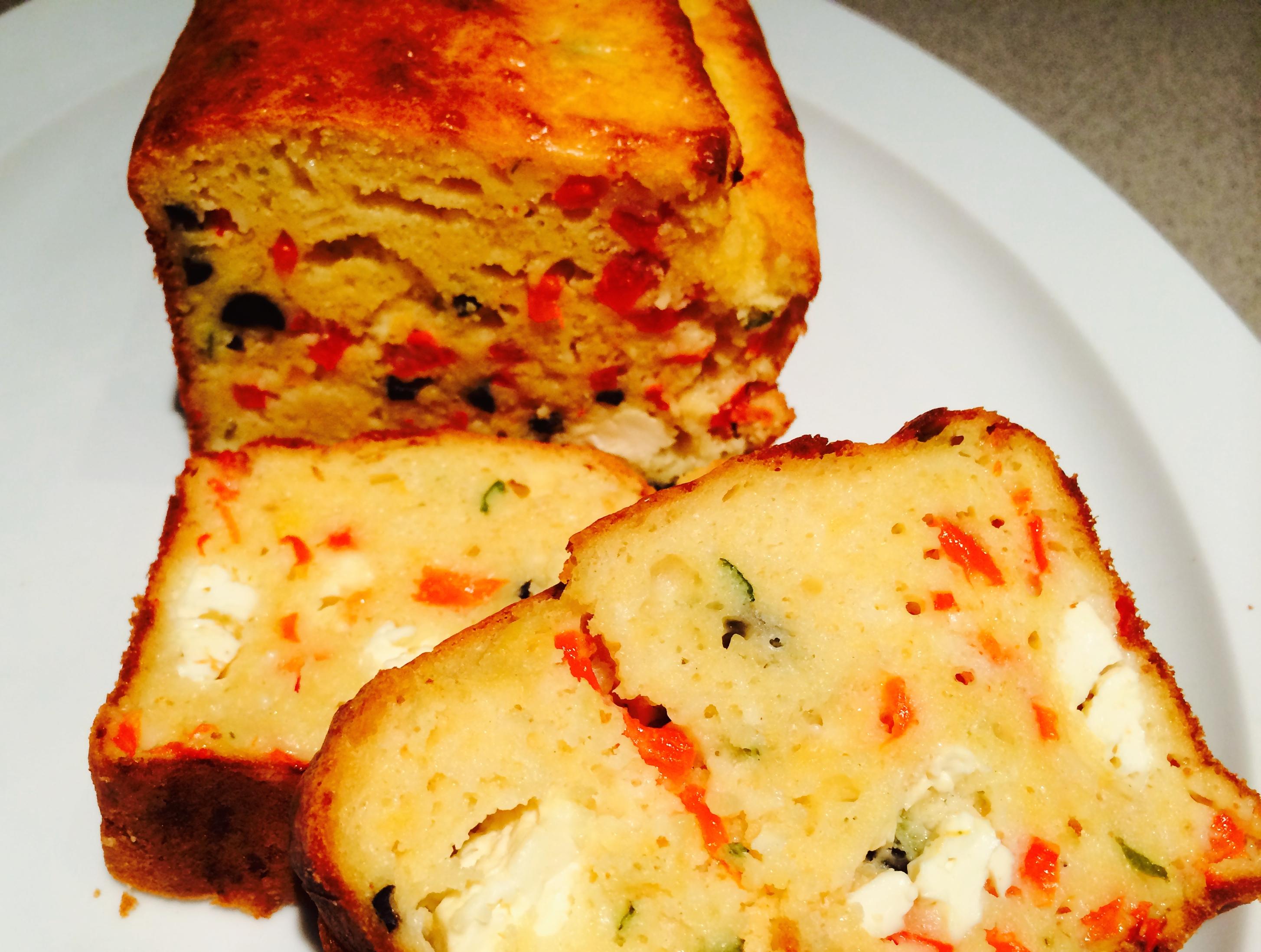 Cake Poivron Feta Basilic