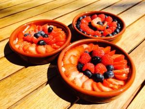 crèmes aux fruits