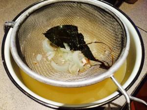 bouillon de poisson passé au chinois