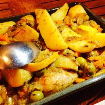 Tajine poulet citron