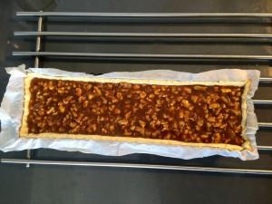 versez la préparation sur la pâte
