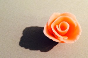 rose en pate d'amande