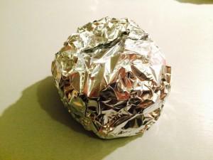 repliez le papier alumininium