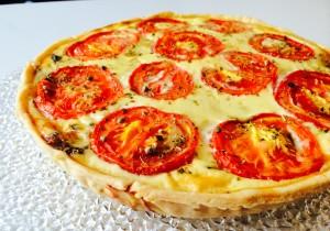 tarte champignons lardons tomates origan