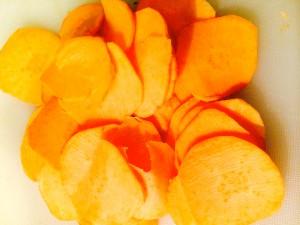 patates douces coupées en lamelles