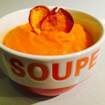 Velouté patates douces carottes