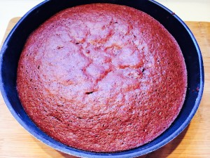 gâteau au chocolat après cuisson