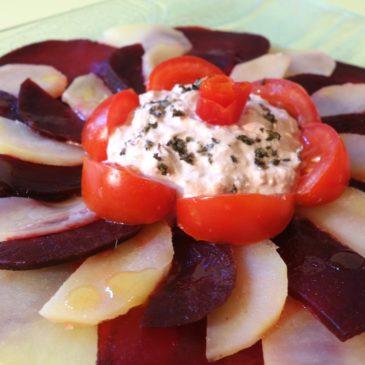 Salade thon betteraves tomates pommes de terre