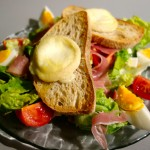 salade chèvre chaud miel