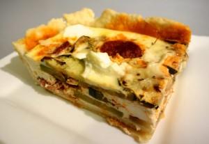 tarte courgettes ricotta chorizo