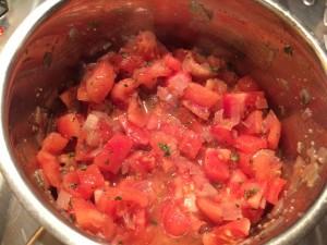 ajout des tomates