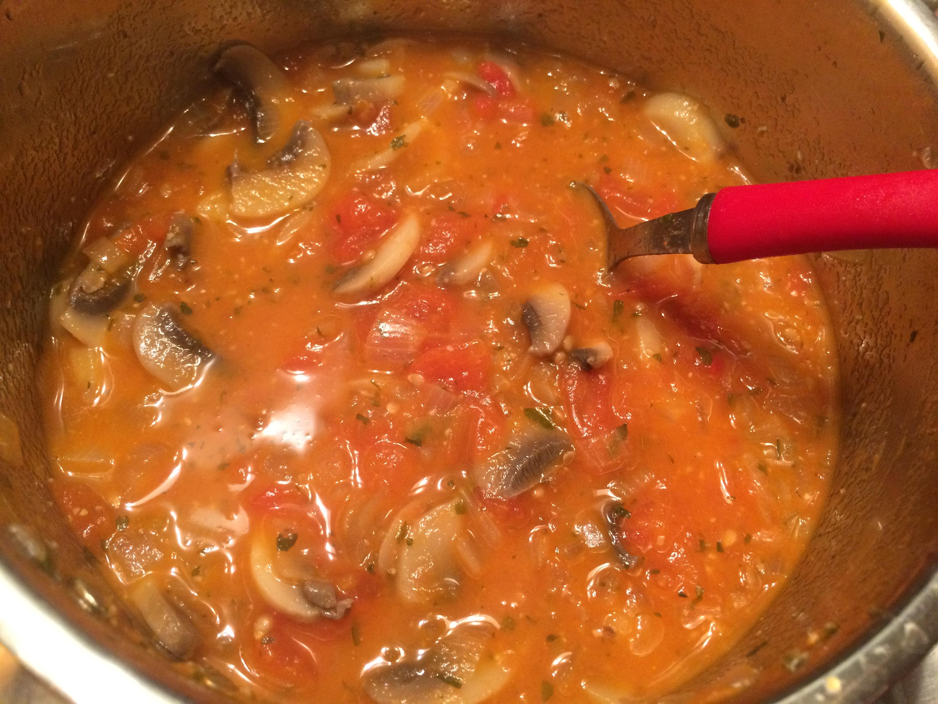 Sauce tomates champignons - SoRoseBonbons