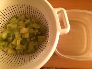 séparez les légumes du bouillon