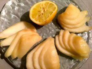 citronnez les poires