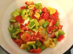 cuisson des poivrons