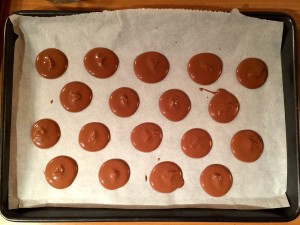 réalisation des cercles de chocolat