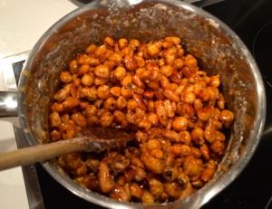caramélisation des amandes et noisettes