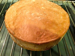gâteau sorti du congélateur