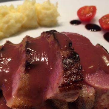 Magret de canard sauce orange vin rouge