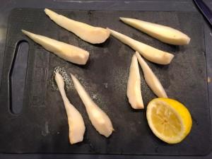 découpe des poires
