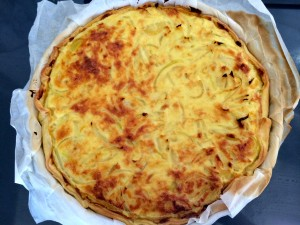 tarte aux oignons cuite