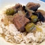 blanquette de veau olives champignons