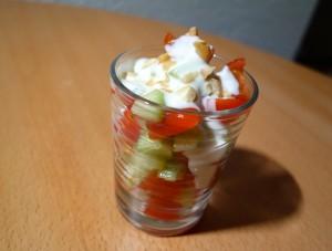 salade tomates concombres noix de cajou