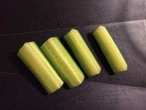 découpe du concombre