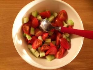 mélange tomates conconmbres