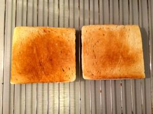 griller les tranches de pain mie
