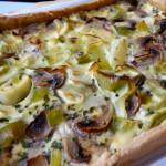 tarte poireaux champignons